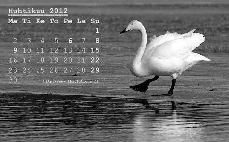 Huhtikuu 2012 kalenteri