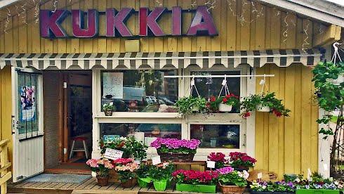 Kukkakioski Vantaan Myyrmäessä 2014